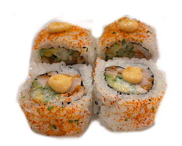 Foto Spicy chicken uramaki